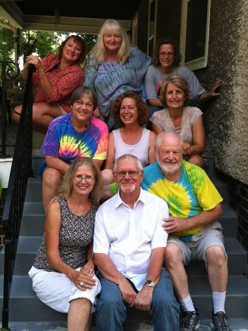 Top left to bottom right, our Des Moines ThetaHealing class. Denise Vazquez, Vickie Clingan, Marybelle Harris, Judy Olson (gracious host), Jennifer Farley (instructor), Annette Despain, Barbara Charlson, me, Jim Akers. Bestest class ever!